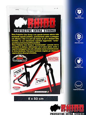 Nero 5 x 50 cm Pellicola Adesiva Rhino Frame per Protezione Telaio Bici