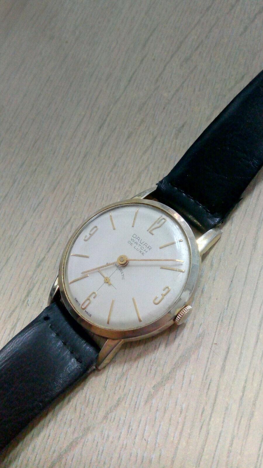 Davar De Luxe – vintage men's wristwatch – 1960s.… - image 5