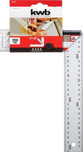 KWB Winkel mit verstellbarer Winkelmesszunge arretierbar 2-fach Skala 250 mm