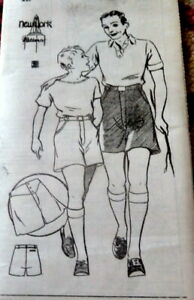 VTG 1930s MENS UNDERWEAR BOXERS & SPORT SHORTS Sewing Pattern WAIST 36 FF
