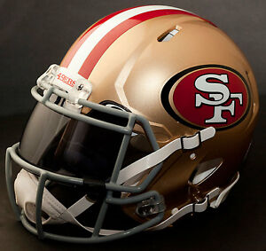 5d7676d6b Image is loading SAN-FRANCISCO-49ers-NFL-Authentic-GAMEDAY-Football-Helmet-