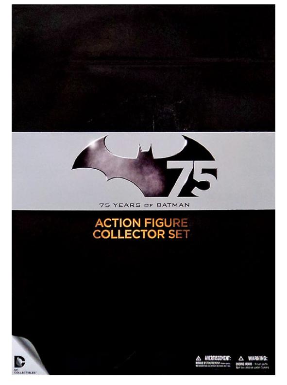 Dc batman 75 jahre sammler deluxe box 2 action - figuren