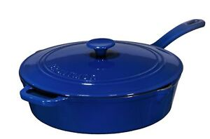 Enameled-12-Inch-Cast-Iron-Skillet-Deep-Saute-Pan-Frying-Pan-with-Lid-Duke-Blue