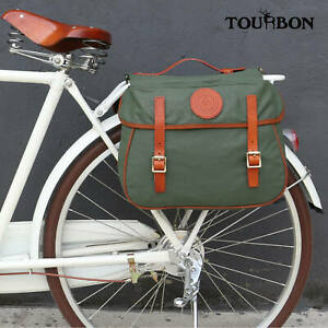 Tourbon Cycling Bike Double Pannier Bicycle Back Seat Bag Pouch Tool Holder Gift