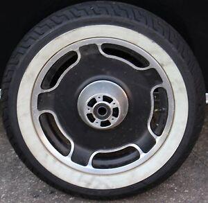 "Original Harley White Wall Front Wheel & Tire Set 16"" Mag MT90B16 Stock (U-1670)"