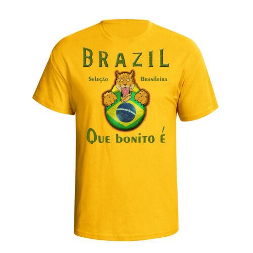 Brazil Womens World Cup 2019 Football Mascot T-Shirt Choice Of MENS LADIES KIDS