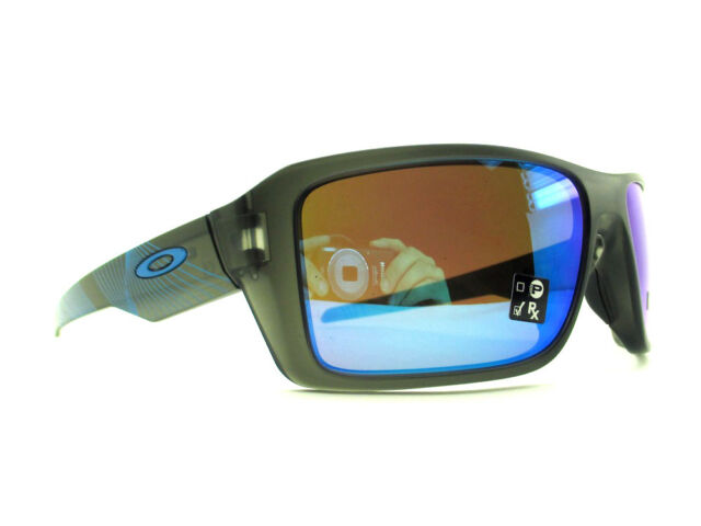 24bc599c4a oo9380-22 66 Oakley Sunglasses Double Edge Matte Grey Smoke Prizm Sapphire  Iridi