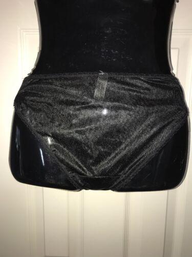 Simply Basic Black Vintage Look Bikini Panty Shiny Sissy Knickers Size 10//3X