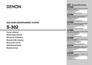 denon s 302 home theater system owners manual ebay