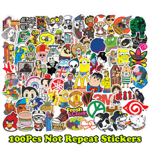 100-Funny-Skateboard-Stickers-Vinyl-Laptop-Luggage-Decals-Dope-Sticker-lot-cool