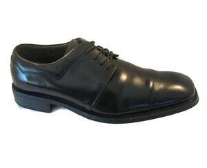 Via Spiga Studio Mens Oxford Derby Dress Shoes Sz 10.5 Black Leather