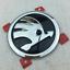 Chrome-Front-Hood-Bonnet-90mm-Rear-Trunk-80mm-Logo-Emblem-Badge-For-Skoda-Option thumbnail 2