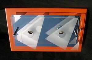 PLAFONNIER-APPLIQUE-ROMBO-Alu-orange-chrome-Verre