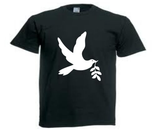 symbol de paix S a XXL homme neuf T-SHIRT Colombe Peace and Love