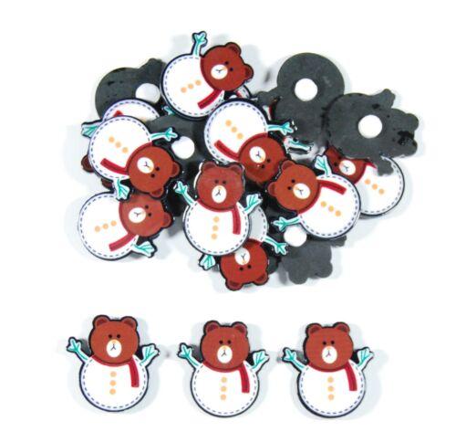Resin Cabochons Self Adhesive Various Sizes /& Designs Santa Christmas Snowman