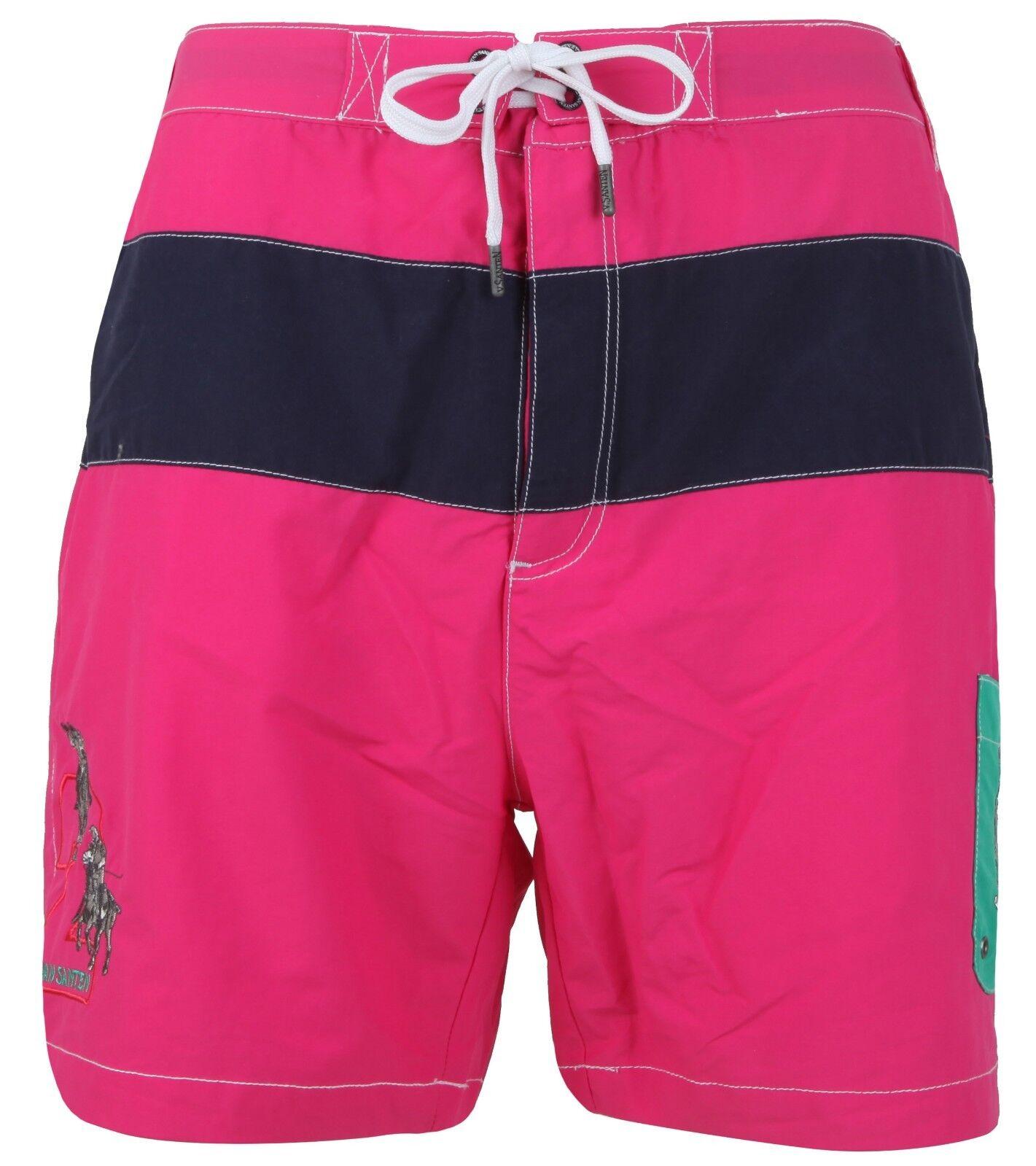 VAN SANTEN & VAN SANTEN Badehose Shorts Bermuda Swimming Trunks Gr. L pink Pink