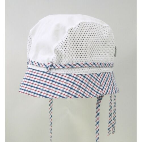 BRAND NEW LIGHT AIRY COLOURFUL BOY//TODDLER//BABY TIED SUMMER HAT//CAP WITH MESH