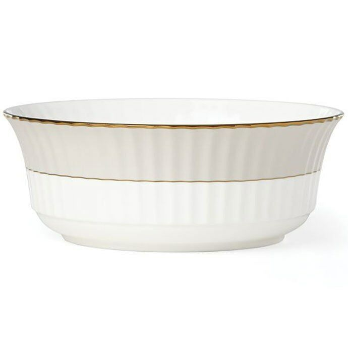 Lenox Pleated Couleurs gris Large Serving Bowl - Set of 2