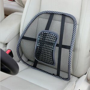 Image is loading Mesh Lumbar Lower Back Support Cushion Seat Posture