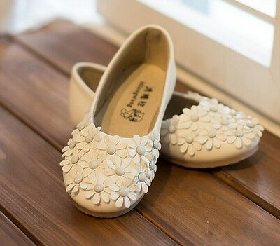 I01 New Fashion Princess Flowers Girls Shoes Children CuteRivet Leather Shoes US