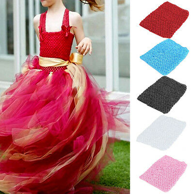 6/'/' Crochet Tube Top Tutu Elastic Waistband Headband Women Hair Band Girls Skirt