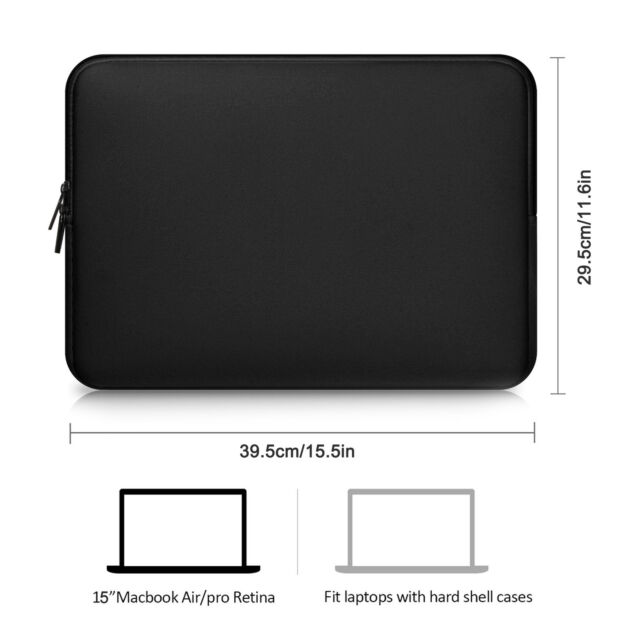 "11/"" 13/"" 14/"" 15/"" Notebook Cover Sleeve Soft Pouch Laptop Case Bag For Macbook Pro"