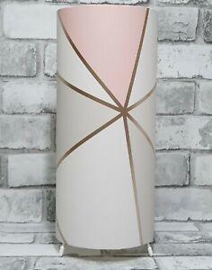Geometric Design Table Lamp Light Bedroom Bedside Lamps Girls Apex Rose Gold Ebay