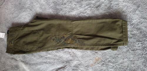 Da donna verde Next Petite Pantaloni Con Tasconi Pantaloni BNWT RRP £ 38 Taglia 10