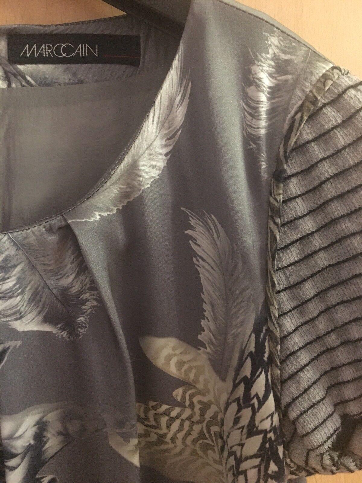 953edfb2e5ea4 ... Kleid MARC CAIN Etuikleid Seide Gr. N3 = = = 38 Grau marccain dress  e61cb9 ...