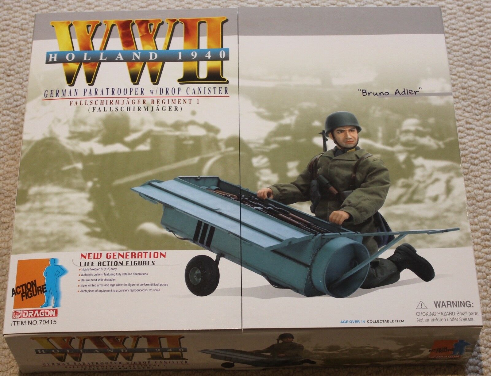 Dragon action figure ww11 german bruno adler 1 6 12'' boxed  did cyber hot toy