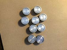 """9 Vintage Solid Aluminum Knobs 1"""" 1960s or 1970s 1/4"""" shaft Stereo Amp"""