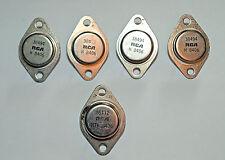 Quad 303 power amplifier lot of 5 NOS RCA power transistors 38494 16112