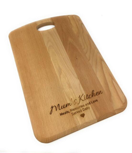Chopping Board Serving Plate 20cm x 30cm Personalised Worktop Saver