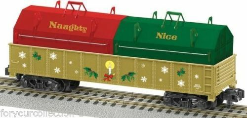 Lionel American Flyer Naughty or Nice Gondola with Coil Covers
