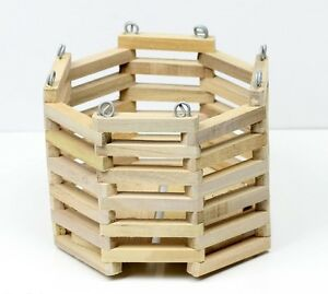 Details About Hanging Wooden Orchid Basket Octagon 7