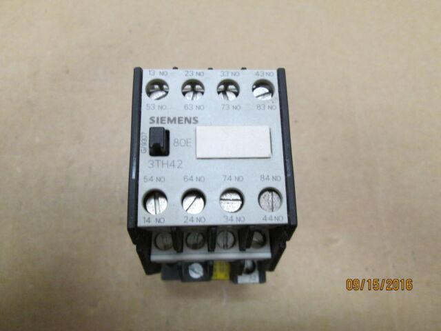 siemens control relay 10 amp 110 120 vac model 3th4280 0a ebay rh ebay com