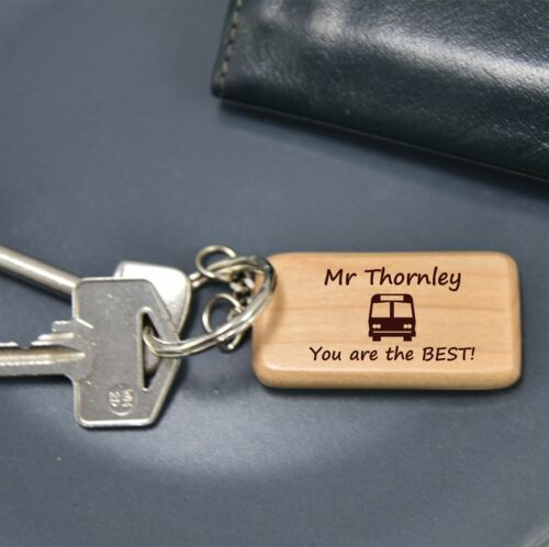 PERSONALISED BUS COACH DRIVER KEYRING 60735 END OF TERM SCHOOL THANK YOU  GIFT