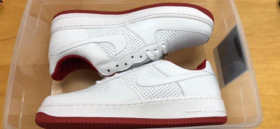 Nike air force 1 306353-118 giamaica tamburi 05 - bianco - rosso sz.13