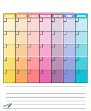 "Dry Erase Blank Monthly Refrigerator Calendar Magnets - 14""x17"" Calendar for ..."