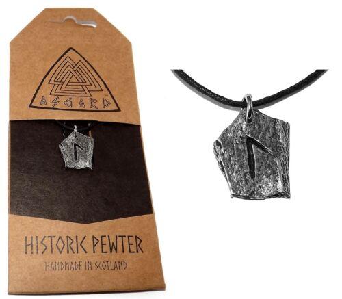 Psychic Powers Viking LAGUZ Slate-look Celtic Rune Stone Pendant Necklace