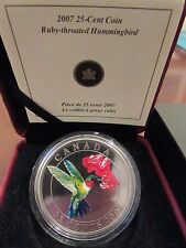 Canada 2007 25-Cent Ruby-Throated Hummingbird - 1st in series!