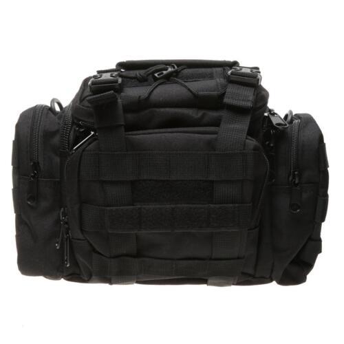 Militaire Trekking Camping Molle Shoulder Bag Waist Pack Sac à main noir