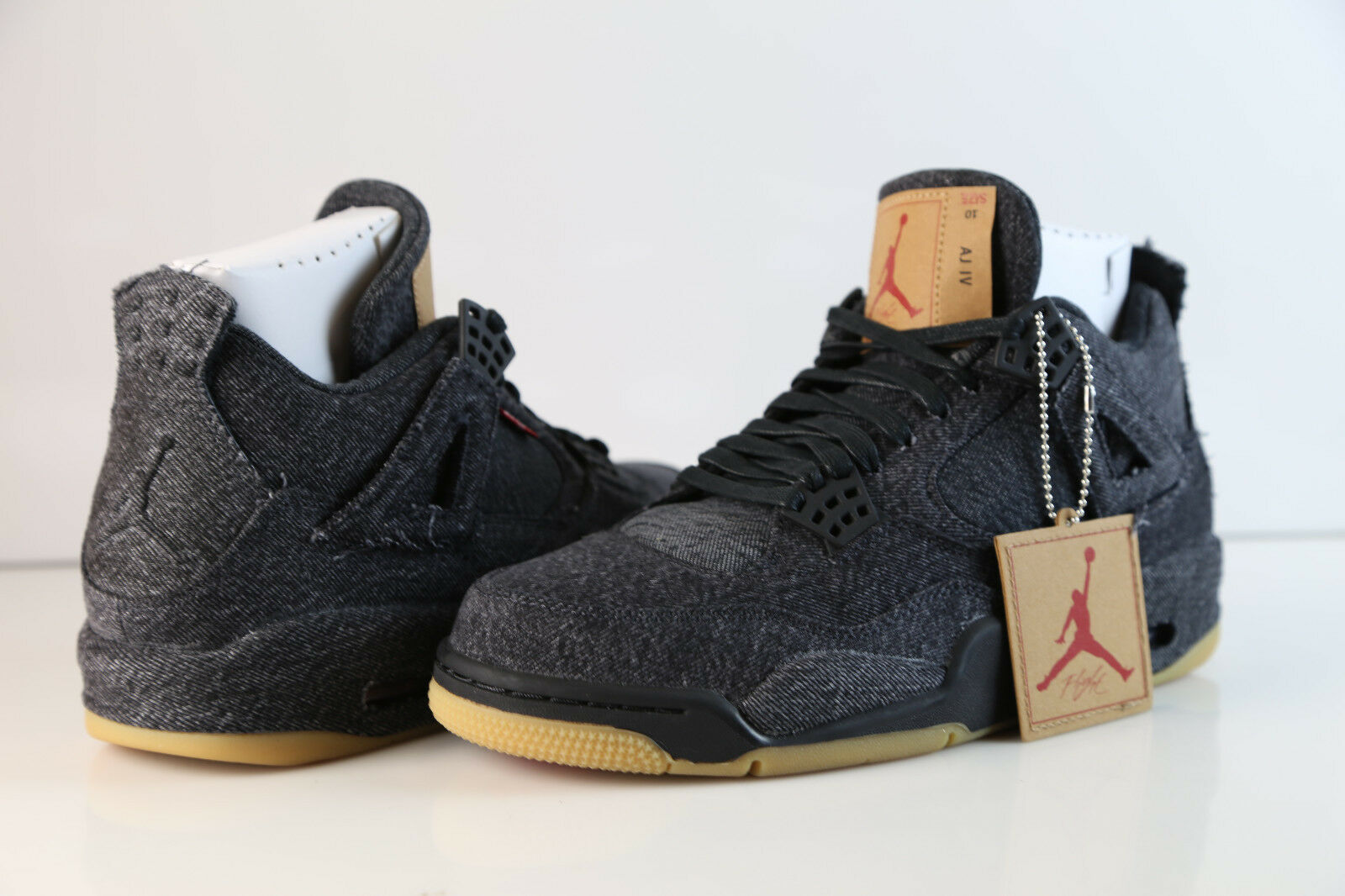 Nike air jordan x levi 's retro - 4 4 - schwarz denim ao2571-001 2018 20 kaugummi 489ccc