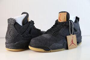 Nike-Air-Jordan-X-Levi-039-s-Retro-4-Black-Denim-AO2571-001-2018-8-12-gum