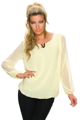 Damen Freizeit Tunika T-Shirts Blusen Oberteil Tops Langarm Einfarbig Lange NEU
