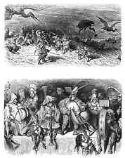 Gustave Dore gigantón Pantagruel 116 A4 Foto impresión