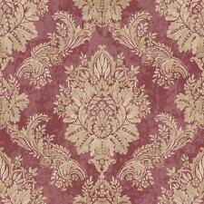 Rasch - Bloomsbury Traditional Damask - Red - Luxury Textured Wallpaper 204841