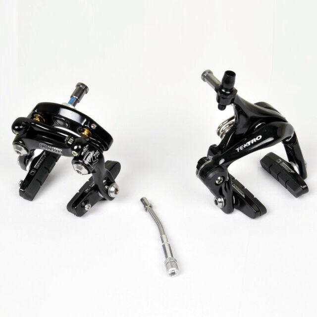 Tektro Brake Set Front /& Rear Black Road Bike Dual Pivot Caliper Brake R525 R725