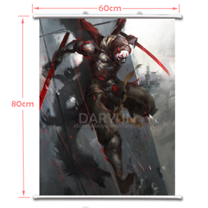 Overwatch Genji Wall Scroll Poster free shipping(23.6/'/' 31.5/'/')