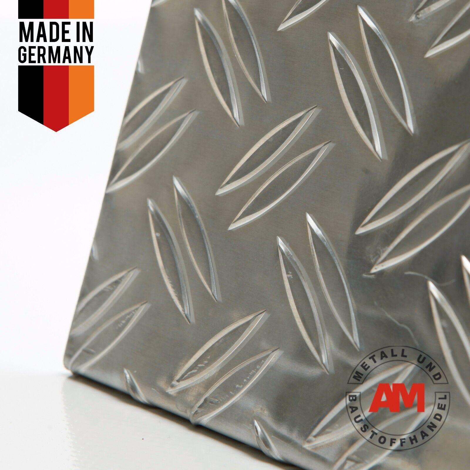 Alu Riffelblech 1,5 2mm Duett 2000x500mm Aluminium Blech Warzenblech Zuschnitt